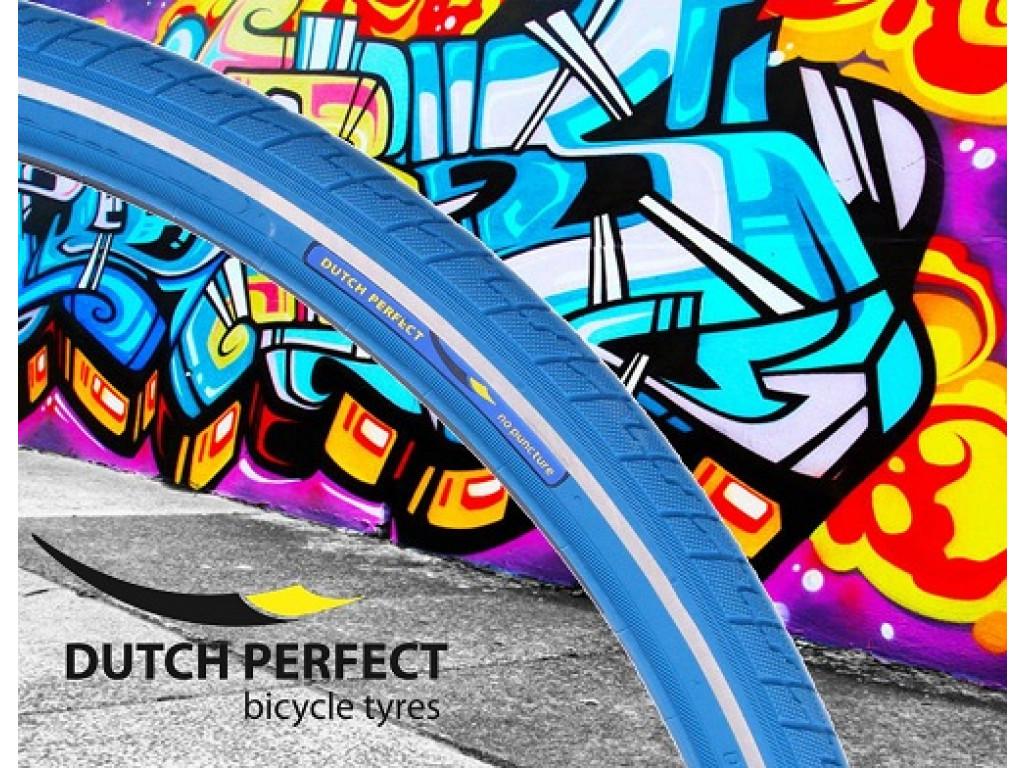 """R Pneus Dutch Perfect 28x1,40/""""//37-622 no Puncture-bleu"""