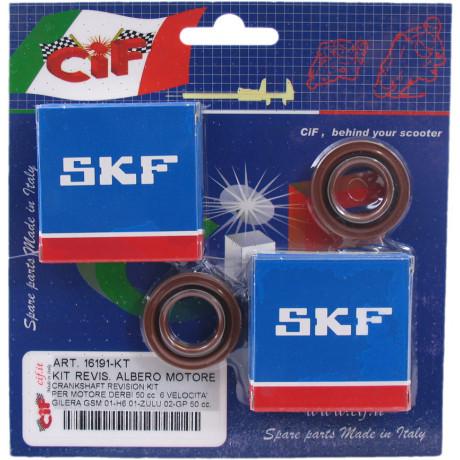 Kugellager-/Simmeringssatz für Kurbelwelle Gilera GSM/Zulu Derbi GPR 6V 50cc