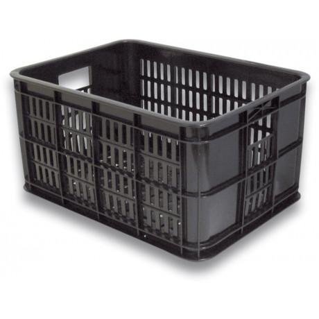 Kunstoff-Fahrradkasten Basil Crate Small 25 Liter 40 x 29 x 21 cm - Schwarz