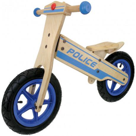 Holz Kinderlaufrad Polizei
